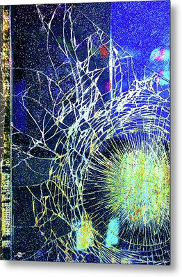 Metal Print featuring the mixed media Crack by Tony Rubino