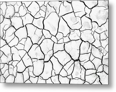 Cracked Mud Metal Print by Brandon Tabiolo - Printscapes