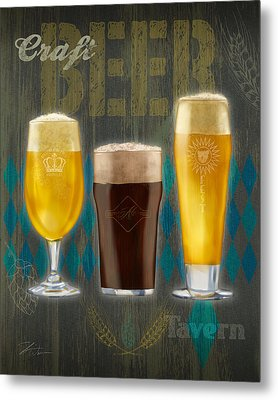 Craft Beer Metal Print