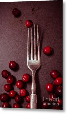 Cranberries And Fork Metal Print