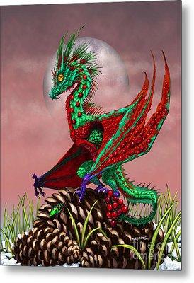 Cranberry Dragon Metal Print