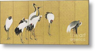 Cranes Metal Print by Maruyama Okyo