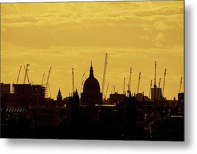 Cranes Over London Metal Print by Wayne Molyneux