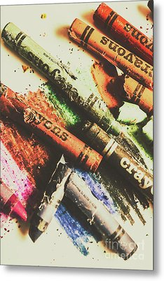 Crash Test Crayons Metal Print by Jorgo Photography - Wall Art Gallery