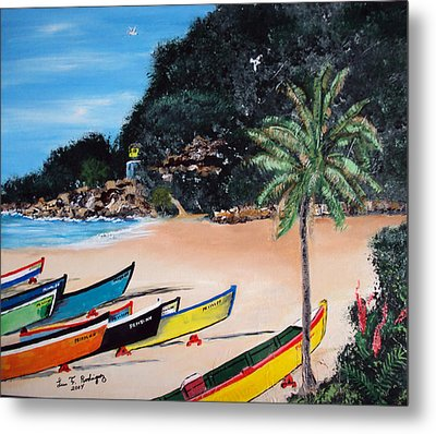 Crashboat Beach I Metal Print by Luis F Rodriguez