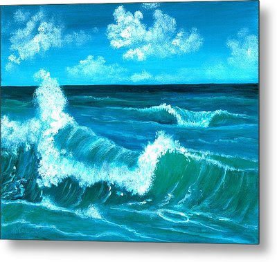 Metal Print featuring the painting Crashing Wave by Anastasiya Malakhova