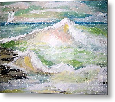 Crashing Wave Metal Print by Carol Grimes