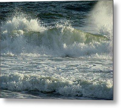 Crashing Wave Metal Print by Sandy Keeton