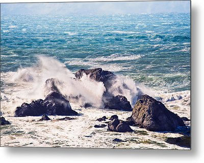 Metal Print featuring the photograph Crashing Waves by Kim Wilson