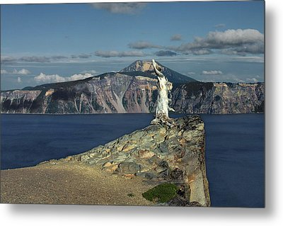 Crater Lake - A Most Sacred Place Among The Indians Of Southern Oregon Metal Print