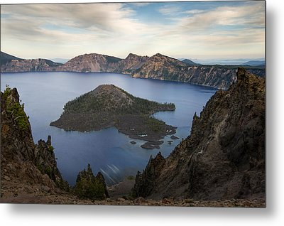 Crater Lake At Sunset Metal Print