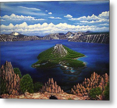 Crater Lake Metal Print by Charles Hill
