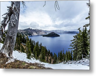 Crater Lake In Spring Metal Print by Michael Parks
