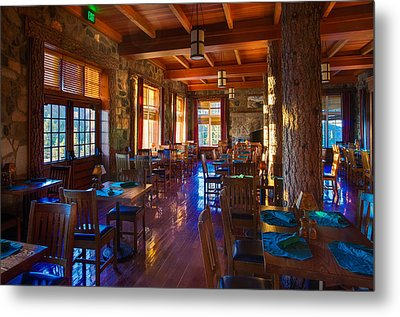 Crater Lake Lodge Dining Room Metal Print by Scott McGuire