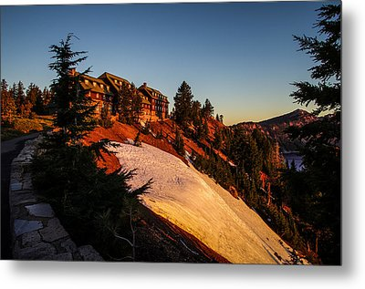 Crater Lake Lodge Sunrise Metal Print by Scott McGuire