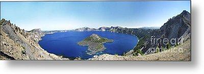 Crater Lake Panoramic Metal Print