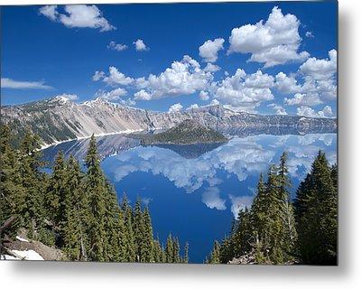 Crater Lake Reflections Metal Print by Loree Johnson