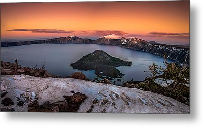 Crater Lake Summer Sunset Metal Print by Scott McGuire