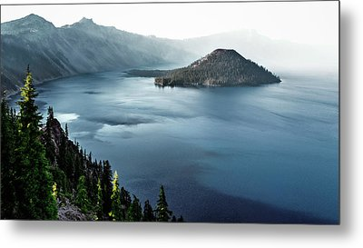 Metal Print featuring the photograph Crater Lake Under A Siege by Eduard Moldoveanu