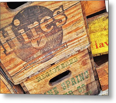 Metal Print featuring the photograph Crates For Hires by Olivier Calas