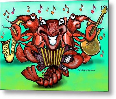 Crawfish Band Metal Print