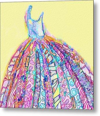 Crazy Color Dress Metal Print