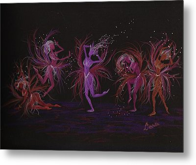 Metal Print featuring the drawing Crazy Day At Work Dance by Dawn Fairies
