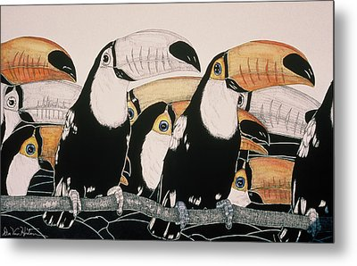 Crazy For Toucans Metal Print