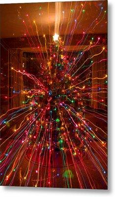 Crazy Fun Christmas Tree Lights Abstract Print Metal Print by James BO  Insogna