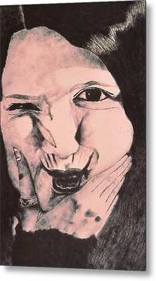 Crazy Girl Metal Print by Beth Parrish
