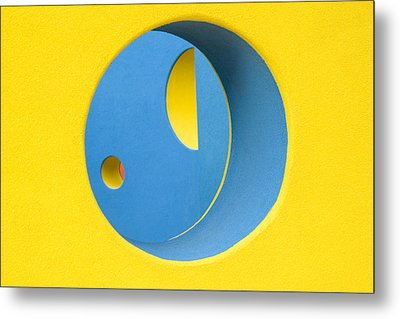 Crazy Sideways Smiley Face Metal Print by John Gusky