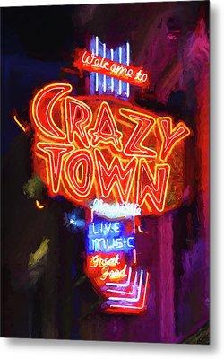 Crazy Town - Impressionistic Metal Print