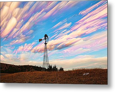 Crazy Wild Windmill Metal Print
