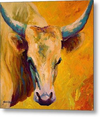 Creamy Texan - Longhorn Metal Print