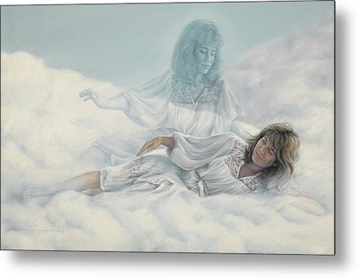 Creating A Body With Clouds Metal Print by Lucie Bilodeau