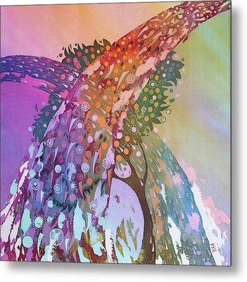Creation Of An Orange Tree Metal Print by Kate Krivoshey