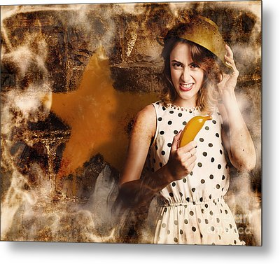 Creative Cooking Pin-up Metal Print by Jorgo Photography - Wall Art Gallery