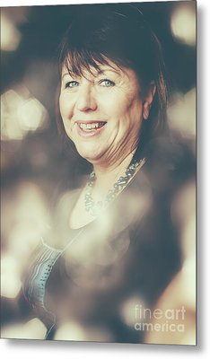 Creative Portrait Of A Middle-aged Business Woman Metal Print by Jorgo Photography - Wall Art Gallery