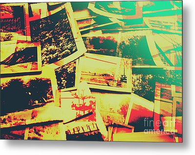 Creative Retro Film Photography Background Metal Print