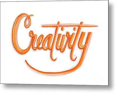 Metal Print featuring the drawing Creativity by Cindy Garber Iverson