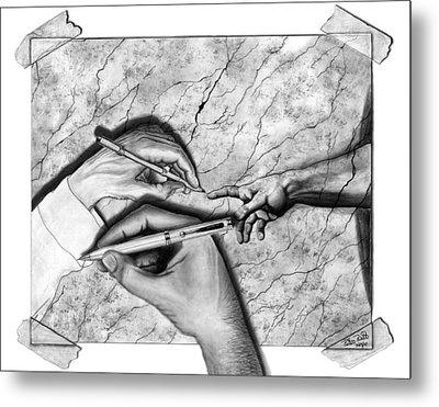 Creators Hand At Work Metal Print by Peter Piatt