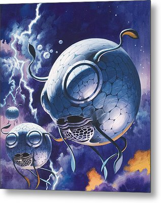 Creatures In Outer Space  Metal Print by Wilf Hardy