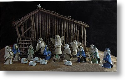 Creche Sraight On View Metal Print by Nancy Griswold