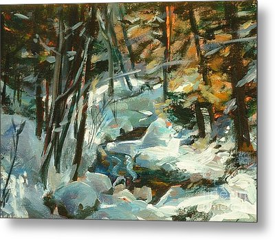 Creek In The Cold Metal Print by Claire Gagnon