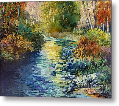 Creekside Tranquility Metal Print by Hailey E Herrera