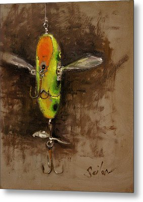 Creeper Muskie Lure Metal Print by Larry Seiler