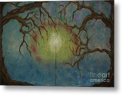 Metal Print featuring the painting Creeping by Jacqueline Athmann