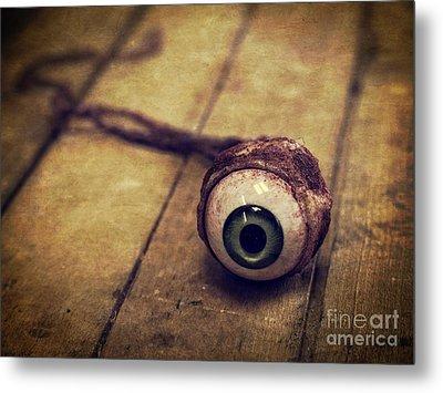 Creepy Eyeball Metal Print by Edward Fielding