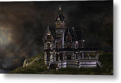 Creepy Mansion Metal Print by Marie-Pier Larocque