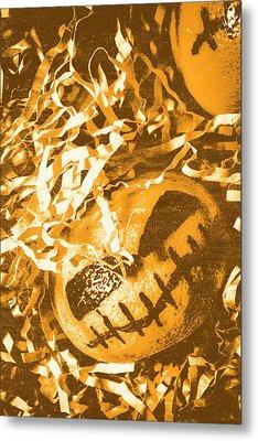 Creepy Vintage Pumpkin Head  Metal Print